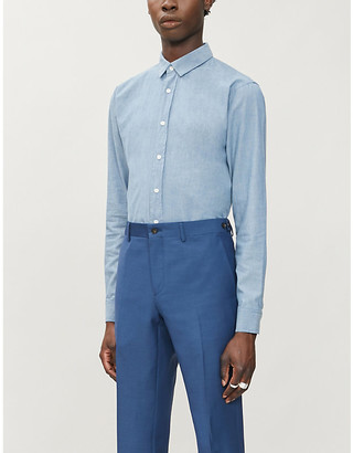Sandro Chambray slim-fit cotton shirt
