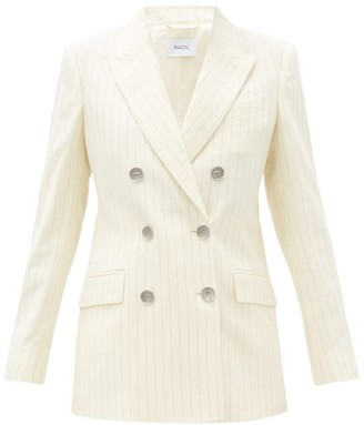 Racil Cambridge Double-breasted Wool-blend Jacket - Ivory