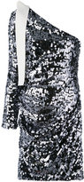 MSGM sequin one shoulder dress - women - Polyester/Spandex/Elastane - 40
