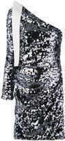 MSGM sequin one shoulder dress - women - Polyester/Spandex/Elastane - 42