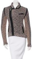 Rag & Bone Leather-Accented Tweed Biker Jacket