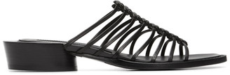 Ann Demeulemeester Black Leather Spartiate Flats