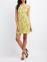 Charlotte Russe Floral Open-Back Shift Dress