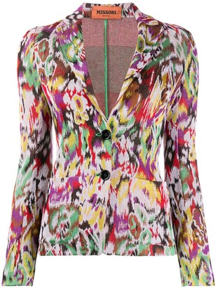 Missoni Abstract-Pattern Fitted Blazer