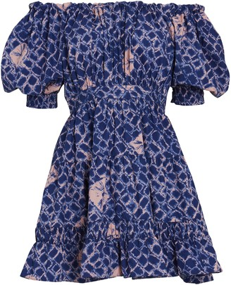 Ulla Johnson Celia Batik Off-the-Shoulder Dress