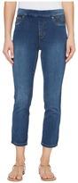 Tribal Pull-On 25 Dream Jeans Capris in Retro Blue Women's Jeans