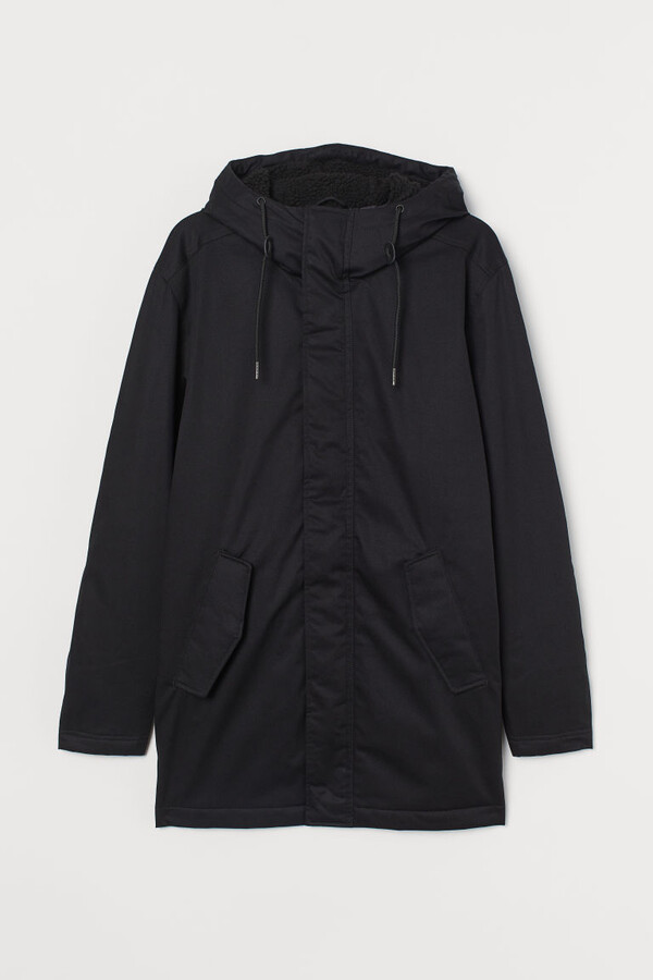 H&M Water-repellent Parka - Black