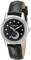 Stuhrling Original Women's 561.02 Countess Analog Display Quartz Black Watch