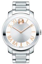 Movado 'Bold' Roman Numeral Index Bracelet Watch, 39mm