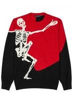 Alexander Mcqueen Skeleton-intarsia Wool Blend Jumper