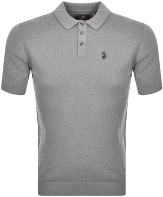 Luke 1977 Tungsten Short Sleeved Polo Knit Grey
