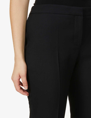 Alexander McQueen Tapered mid-rise wool-blend cigarette trousers