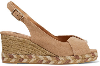 Castaner Brianda Twisted Cotton-canvas Espadrille Wedge Sandals