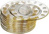 One Kings Lane Vintage Gold Encrusted Crystal Plates, S/12