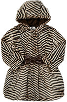 American Widgeon AMERICAN WIDGEON STRIPED FAUX-FUR COAT-BROWN SIZE 5