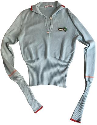 VIVETTA Turquoise Cotton Knitwear