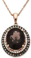 Lord & Taylor Diamonds, Smokey Quartz and 14K Rose Gold Pendant Necklace