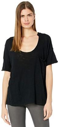 Free People Summer Sky Tee (Black) Women's Clothing