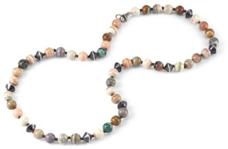 Sylva & Cie Beads Sterling Silver & Saturn Chalcedony Necklace