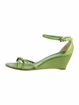 Prada Patent Leather Sandals Green