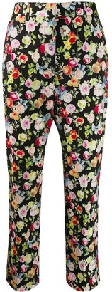 Paul Smith Floral Print Cropped Trousers