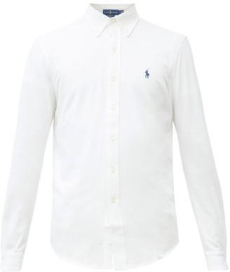 Polo Ralph Lauren Logo-embroidered Cotton-pique Shirt - White