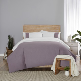 Vue Elements Kinsley Solid Chambray Colorblock Comforter Set