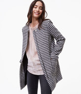LOFT Brushed Check Coat