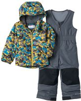 Columbia Toddler Boy OUTGROWN Camouflage Jacket & Reinforced Bib Snow Pants Set