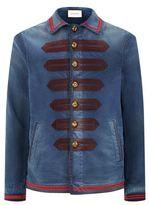Gucci Military Band Denim Jacket