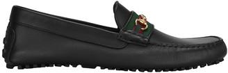 Gucci Logo Web Driver Loafers