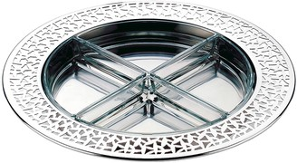 Alessi Cactus! Stainless Steel and Glass Round Tray