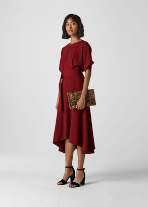 Textured Belted Midi Dress