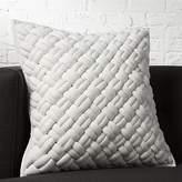 "CB2 20"" Jersey Dark Grey InterKnit Pillow"