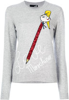 Love Moschino glitter pencil print top - women - Polyamide/Viscose/Cashmere/Virgin Wool - 38