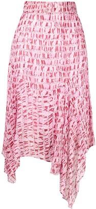 Etoile Isabel Marant Abstract Print Asymmetric Skirt
