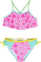 Asstd National Brand Big Chill 2-pc. Triangle-Print Bikini Swimsuit - Girls 7-16