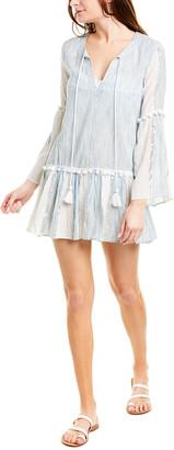 Taj By Sabrina Crippa Bell-Sleeve Drop-Waist Dress