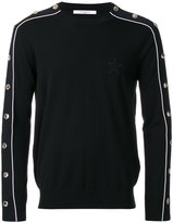 Givenchy snap fastening stripe jumper