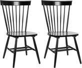 Safavieh Black Abigail Chairs, Pair