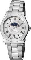 Salvatore Ferragamo 40mm 1898 Sport Men's Moon Phase Bracelet Watch, Silver