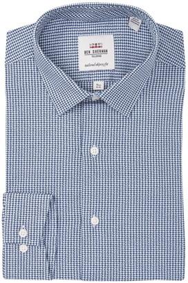 Ben Sherman Argyle Dobby Gingham Skinny Fit Dress Shirt