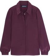 Vanessa Seward Carly Silk Shirt - Burgundy