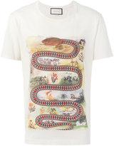 Gucci kingsnake print t-shirt - men - Cotton - XL
