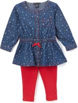Tommy Hilfiger Blue & Red Dot Bow Tunic & Leggings - Infant & Toddler