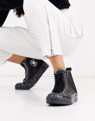 Converse black Chuck 70 Hi Speckled Double Eyelet trainers