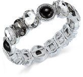 Charter Club Silver-Tone Jet Stone Crystal Stretch Bracelet, Only at Macy's