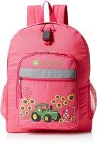 John Deere Big Girls Sunflower Backpack