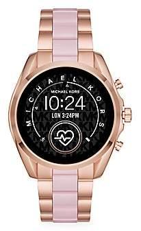Michael Kors Women's Access Bradshaw Two-Tone Stainless Steel & Acetate Bracelet Touchscreen Smart Watch
