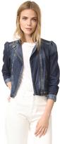 Rebecca Taylor Denim Moto Jacket